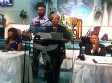Jewel Hall, mother of Milton Hall, spoke a community forum about the fatal police shooting of her son.