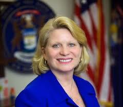 Michigan Secretary of State, Ruth Johnson.