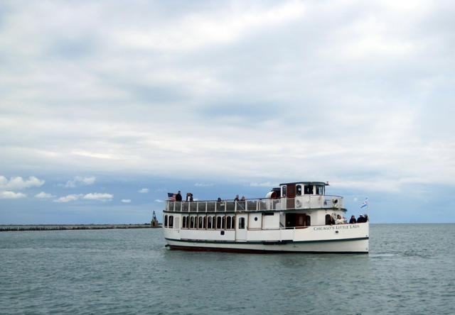 A sightseeing boat on Lake Michigan near Chicago. Barge and tour boat operators, among other businesses and industries, are concerned about proposals to permanently separate the Great Lakes from the Mississippi River system.