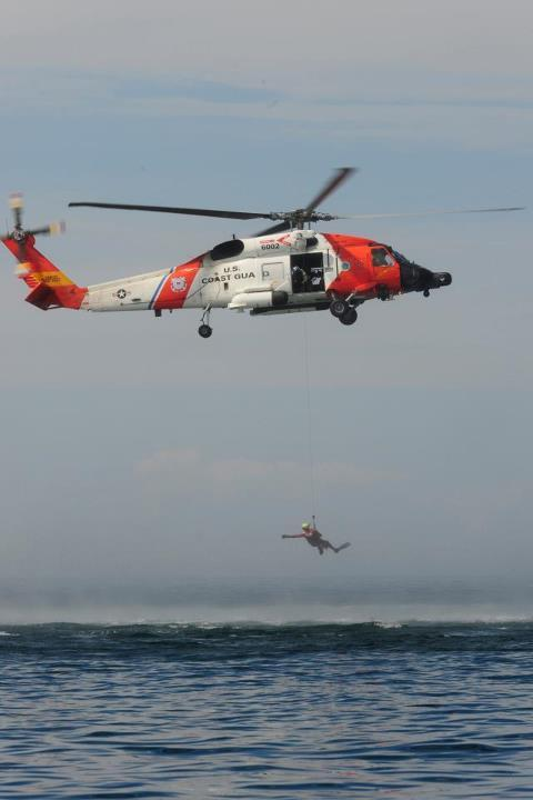 The U.S. Coast Guard in West Michigan is looking for someone who directed a green laser at one of its helicopters.