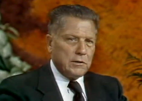 Jimmy Hoffa on WESW-TV's Morning Exchange program sometime between 1971 and 1975.