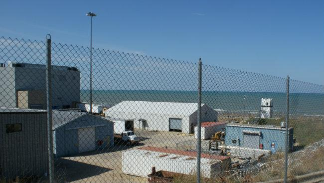 Lake Michigan viewed from the Palisades plant. The latest leak is from the system that uses Lake Michigan water to cool equipment. The leaking valve is in one of the secondary buildings at the location.