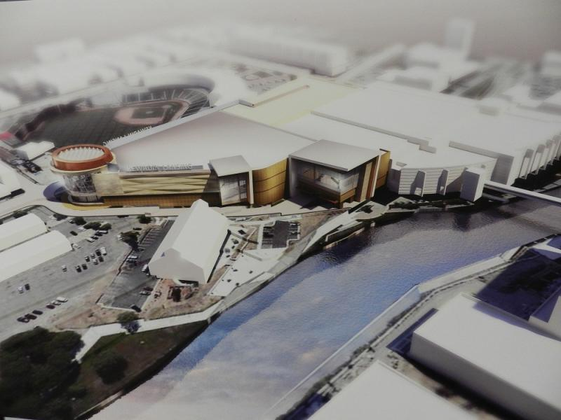 artist's conception of proposed Kewadin Lansing casino