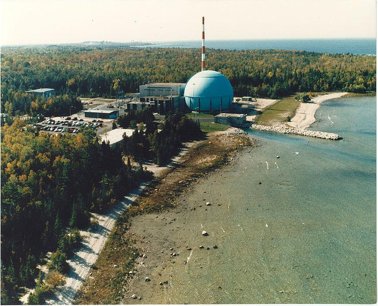 The Big Rock Point Nuclear Power Plant in Charlevoix, Michigan. The plant was decommissioned in 1997.