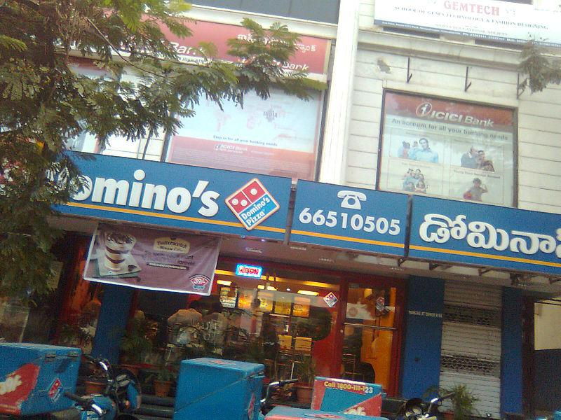 A Domino&#039;s Pizza outlet in India