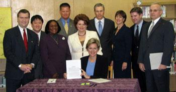Former Michigan Governor Jennifer Granholm signed the law implementing the Michigan Merit Curriculum