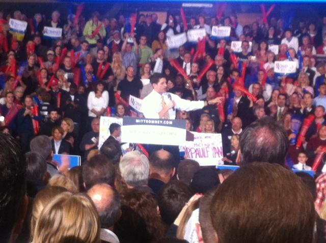 Paul Ryan at a rally in Michigan this week.