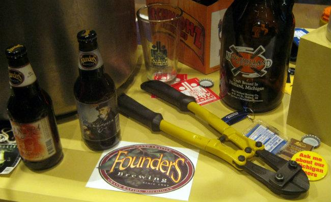 The Founders bolt cutter… from back when the Grand Rapids brewpub was facing bankruptcy and the bank threatened to chain it shut. The bolt cutters never needed to be used, but just in case.