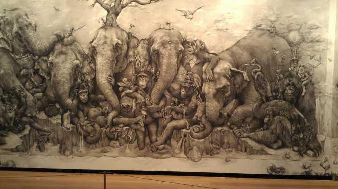 'Elephants' by Adonna Khare - 2012 ArtPrize winner.