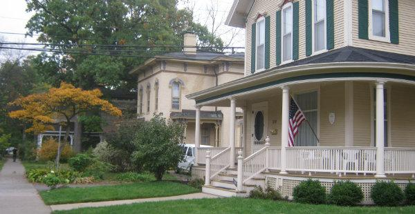 Homes in Grand Rapids' Heritage Hill neighborhood date back to the 1840s.