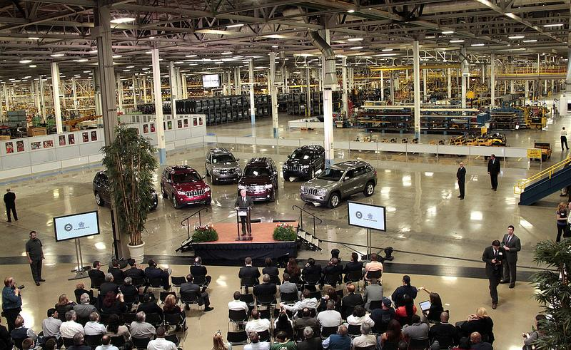 The interior of Chrysler's Jefferson North Assembly Plant.