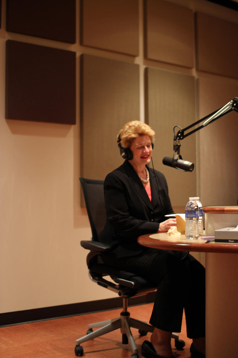 U.S. Senator Debbie Stabenow in Studio East at Michigan Radio.