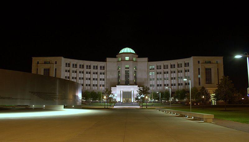 The Michigan Hall of Justice where the Michigan Supreme Court convenes.