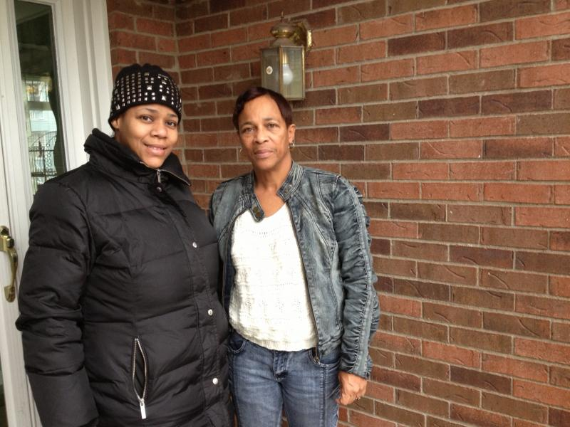 Tisha Friday, left, with her mother LaRhonda Brown. Friday signs closing papers for a brand-new, mortgage-free home tomorrow. Brown became the first plaintiff to get a home through a long-running discrimination lawsuit, in 2003.