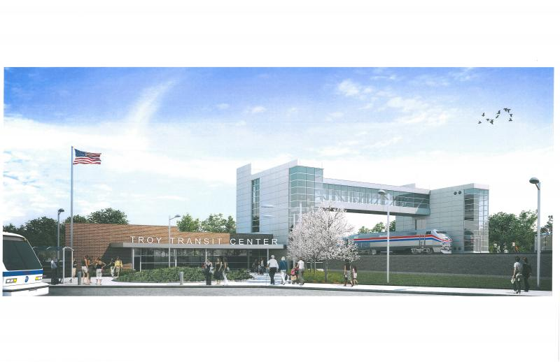 Plans for the Troy transit center
