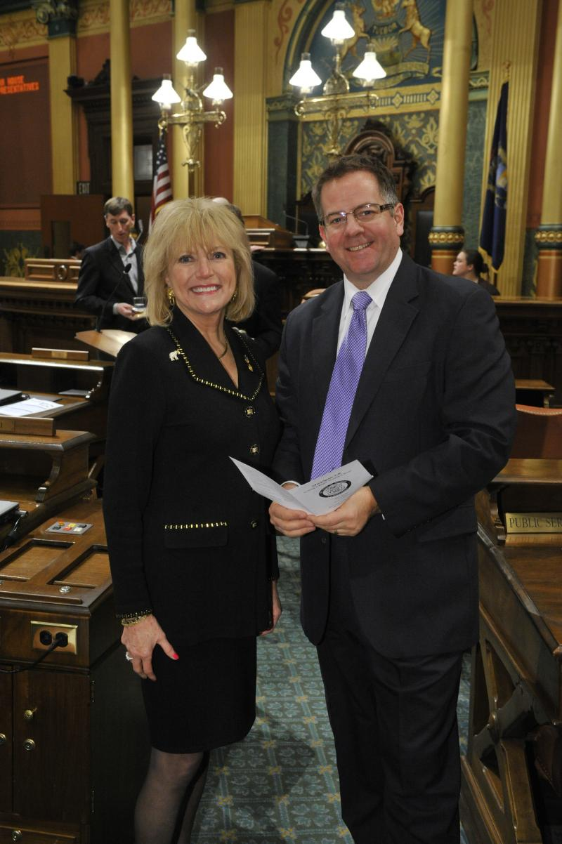 Republican State Representative Gail Haines (left) said she is not worried about meeting a Friday deadline to tell the Obama administration if Michigan will set up an insurance exchange under the federal healthcare law.