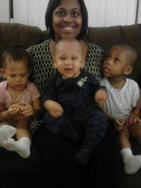 A family photo of Keisha Johnson and her three children