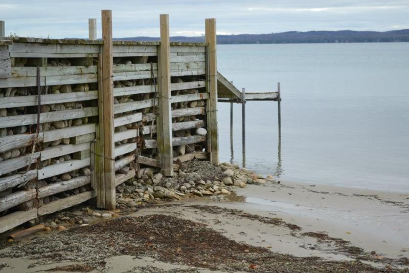 Water levels have hit record lows on Lakes Michigan and Huron. Northport Bay on November 4, 2012.