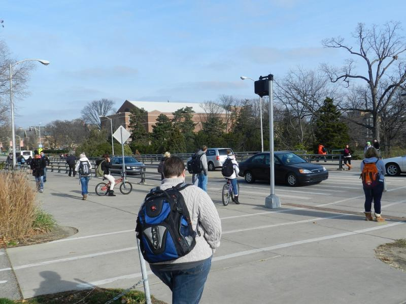 Michigan State University students on the East Lansing campus