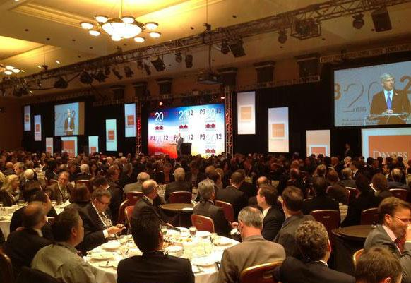 Michigan Governor Snyder adressing the P32012 conference in Toronto today.