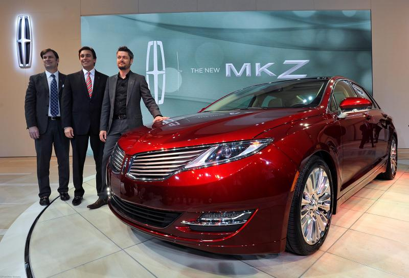 Ford execs unveiling the 2013 Lincoln MKZ earlier this year.