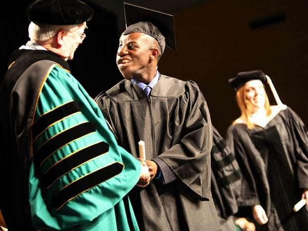 Despite a severe genetic disorder, Victor Chukwueke graduated from Wayne State University with two degrees