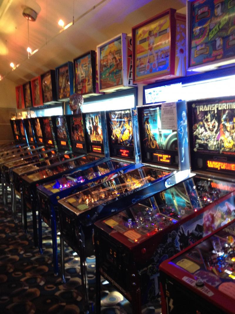 A few of the Shark club's Pinball Machines