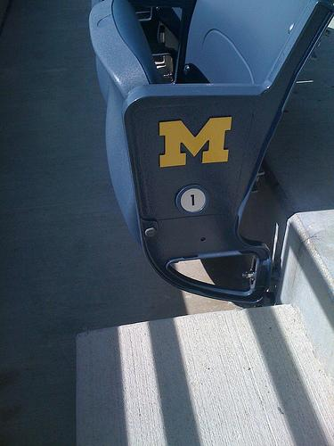 A new seat in Michigan Stadium.