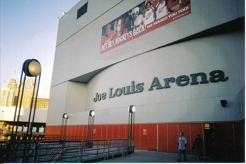 Joe Louis Arena, the current home of the Detroit Red Wings