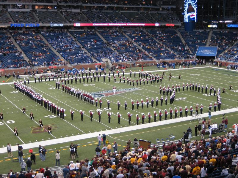 The sparsely attended Motor City Bowl in 2006 featured Central Michigan University vs. Middle Tennessee State University.