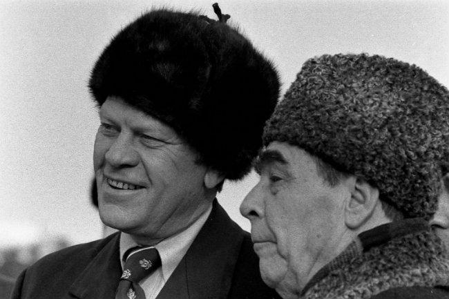 President Ford received the ushanka during a 1974 trip Russia.