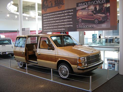 A 1984 Plymouth Voyager at the Walter P. Chrysler Museum.