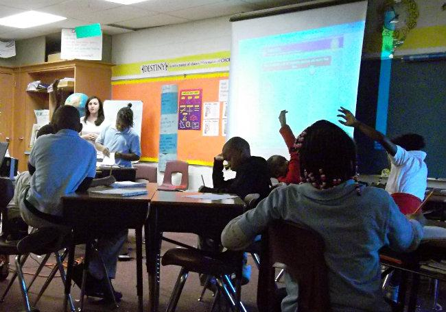 Students at Edgewood Elementary School learn about philosophy through Mosaica's Paragon curriculum.