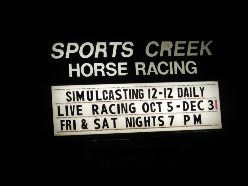 The marquee at the entrance to Sports Creek raceway in Swartz Creek(file photo)