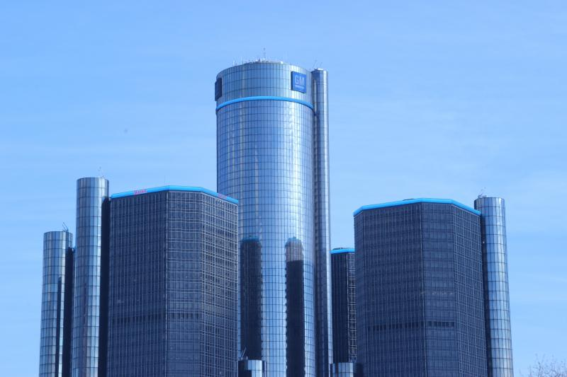 GM Headquarters in downtown Detroit.