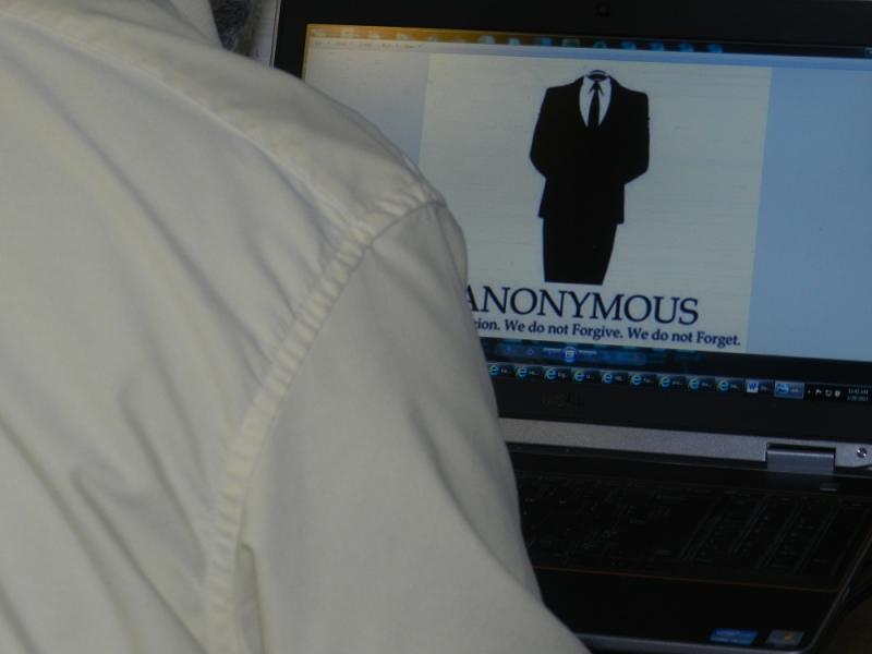 Anonymous is a group of internet activitists who oppose censorship and other governmental intrusions on the web.