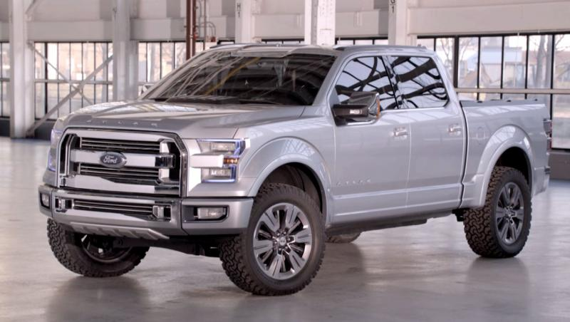 One of Ford's trucks, which has yet to be available as a hybrid model.
