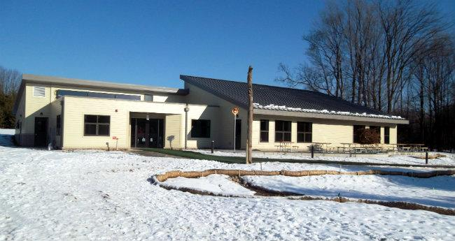 The new Blandford School building opened for students on Monday in Grand Rapids.