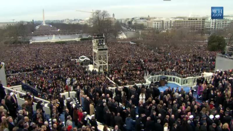 Crowds gather for the 57th Presidential Inauguration.