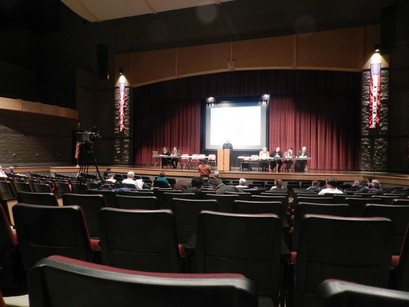 The turnout at last night's public hearing was not enough to fill the auditorium at Pattengill Academy
