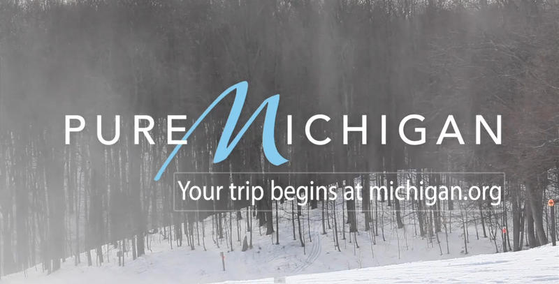 "A ""Pure Michigan"" advertisement."