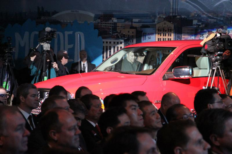 The Ram 1500 hiding among journalists.