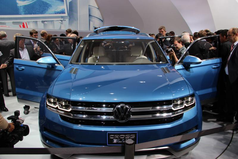 A Volkswagen concept car at the 2013 Detroit Auto Show.
