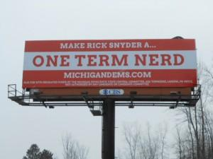 Michigan Democrats new billboard.