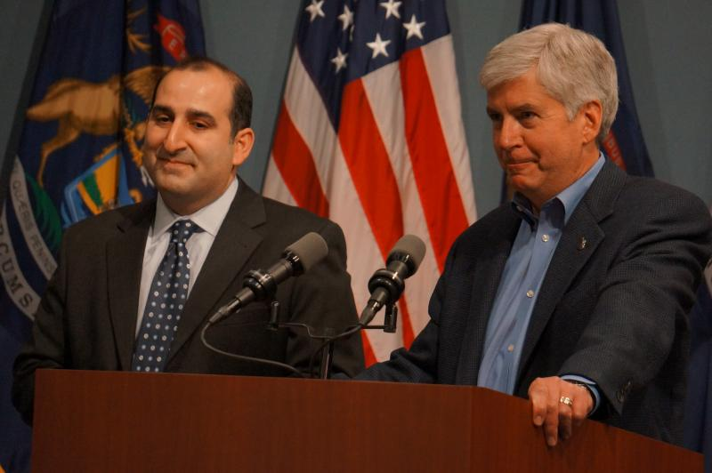 Gov. Rick Snyder has appointed Macomb Co. Chief Judge David Viviano, left, to the Michigan Supreme Court.