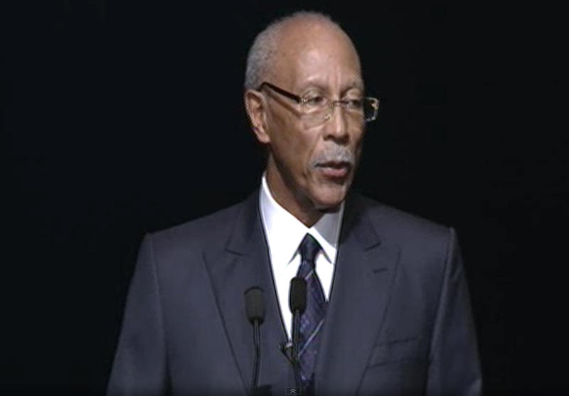 Detroit Mayor Dave Bing delivering his 2013 'State of the City' speech.