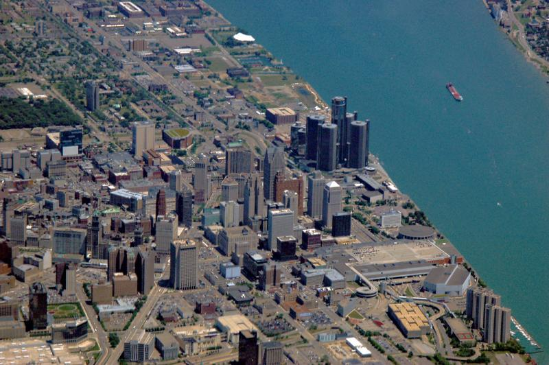 Detroit from the air.