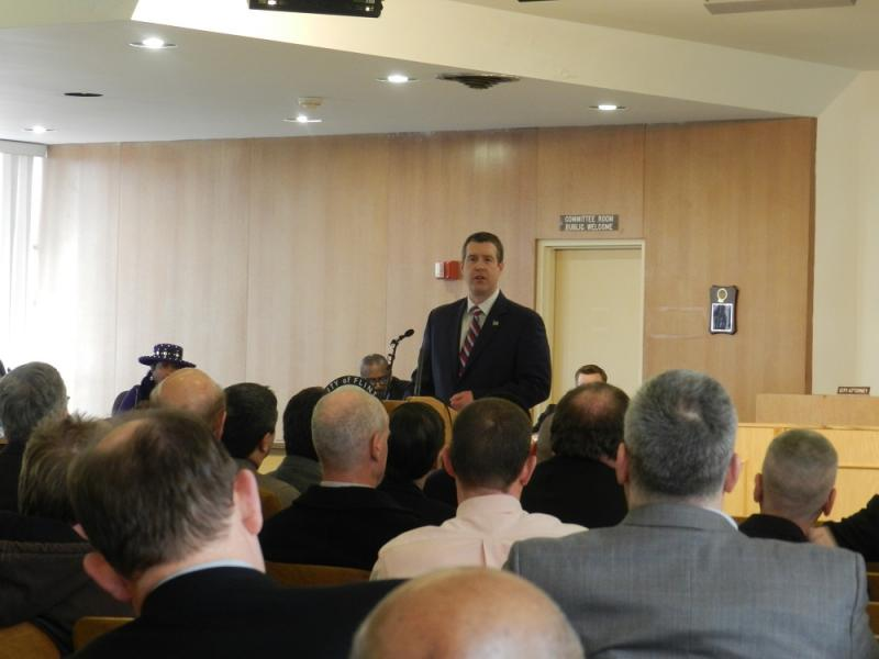 Flint Mayor Dayne Walling delivered a wide ranging speech on Monday, outlining the 'State of the City'
