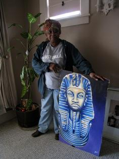 Ma Dukes' house is filled with gifts of art from Dilla fans around the world.