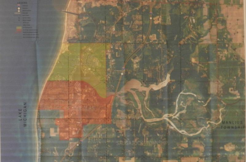 Map of Douglas and Saugatuck